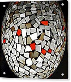 Silver Egg Acrylic Print by Eleni Mac Synodinos