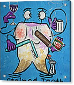 Stained Tooth Acrylic Print by Anthony Falbo