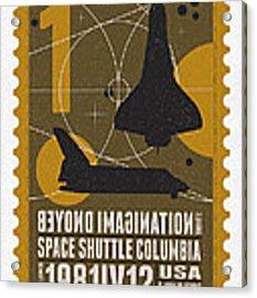 Starschips 01-poststamp - Spaceshuttle Acrylic Print
