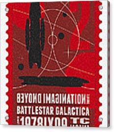 Starschips 02-poststamp - Battlestar Galactica Acrylic Print