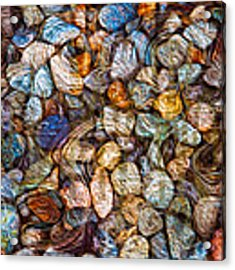 Stoned Stones Acrylic Print by Omaste Witkowski