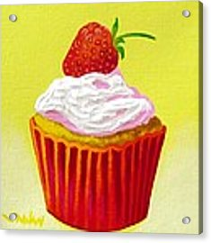 Strawberry Cupcake Acrylic Print
