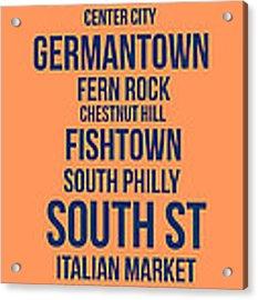 Streets Of Philadelphia 4 Acrylic Print by Naxart Studio