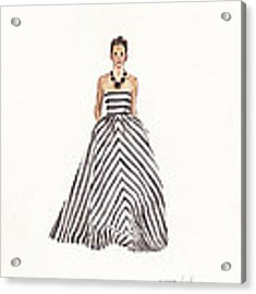 Striped Glamour Acrylic Print