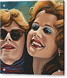 Susan Sarandon And Geena Davies Alias Thelma And Louise Acrylic Print