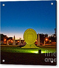 Texas Tech Seal At Night Acrylic Print by Mae Wertz