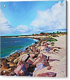The Beach At Ponce Inlet Acrylic Print by Deborah Boyd