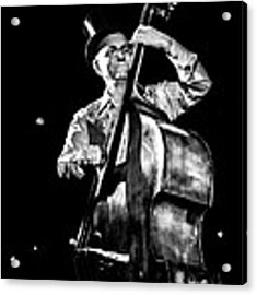 The Old Contrabass Player Acrylic Print by Stwayne Keubrick