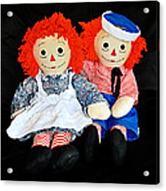 The Raggedy Twins Acrylic Print by Donna Proctor