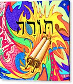 Torah Acrylic Print by Nancy Cupp