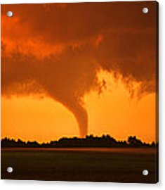 Tornado Sunset Acrylic Print by Jason Politte