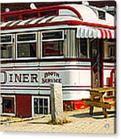 Tumble Inn Diner Claremont Nh Acrylic Print by Edward Fielding
