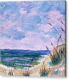 Twilight Beach Acrylic Print by Donna Proctor