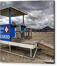 Tybee Island Lifeguard Stand Acrylic Print by Peter Tellone