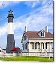 Tybee Island Lighthouse At Dawn Acrylic Print by Mark E Tisdale