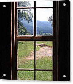 View From The Cabin Acrylic Print by Todd Blanchard