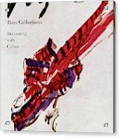 Vogue Magazine Cover Featuring Model Dorian Leigh Acrylic Print by Carl Oscar August Erickson