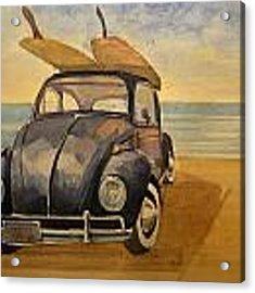 Volkswagen Beetle Acrylic Print by Juan  Bosco