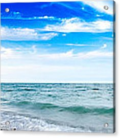 Walking The Shore - Extended Acrylic Print by Steven Santamour