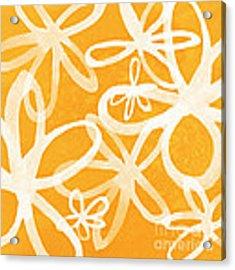 Waterflowers- Orange And White Acrylic Print