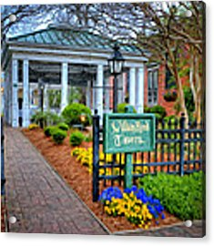 William Rand Tavern At Smithfield Inn Acrylic Print by Williams-Cairns Photography LLC