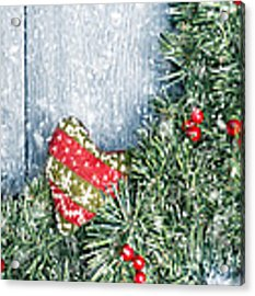 Winter Garland Acrylic Print by Amanda Elwell