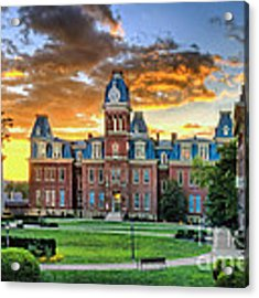Woodburn Hall Evening Sunset Acrylic Print by Dan Friend