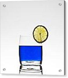 Blue Cocktail With Lemon Acrylic Print