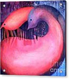 Yin Yang Acrylic Print by Lynn Buettner