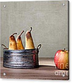 Apple And Pears 01 Acrylic Print by Nailia Schwarz