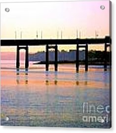 Bridge At Sunset Acrylic Print by Dale   Ford