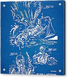 Bulletproof Patent Artwork 1968 Figures 18 To 20 Acrylic Print
