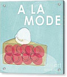 Cherry Pie A La Mode Acrylic Print by Linda Woods