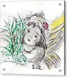 Christmas Angel Acrylic Print by Laurie Lundquist