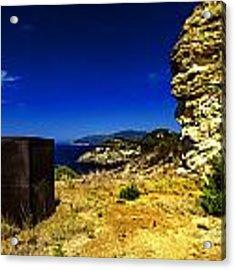 Elba Island - Rusty Iron Cube Landscape - Ph Enrico Pelos Acrylic Print by Enrico Pelos