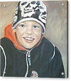 Finnish Boy Commission Acrylic Print by Katalin Luczay