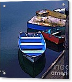 Five Dinghies Acrylic Print by Dale   Ford