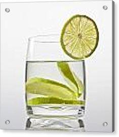Glass With Lemonade Acrylic Print