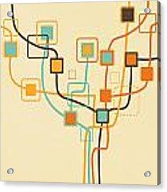 Graphic Tree Pattern Acrylic Print