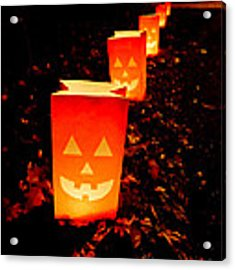 Halloween Paper Lanterns Acrylic Print
