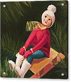 Jolly Old Elf Acrylic Print by Joe Winkler