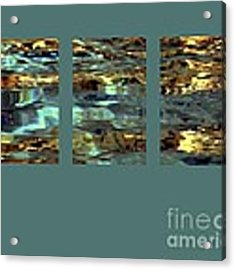 Light On Water Triptych With 24x36 In Panels Acrylic Print by Dale   Ford