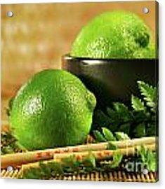 Limes With Chopsticks Acrylic Print
