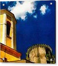 Madrignano Castello E Campanile Acrylic Print by Enrico Pelos