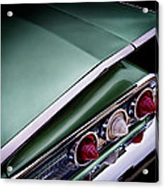 Metalic Green Impala Wing Vingage 1960 Acrylic Print