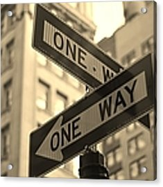 One Way, Manhattan Acrylic Print by Photo by Yohsuke Ikebuchi