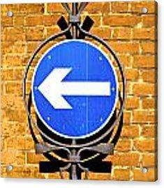 One Way Sign Acrylic Print by Tom Gowanlock