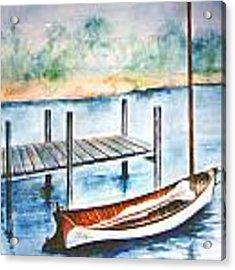 Pea Pod Boat Acrylic Print by Lynn Buettner