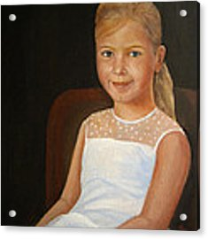 Portrait Of A Girl Acrylic Print by Katalin Luczay