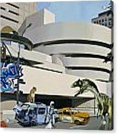 Post Nuclear Guggenheim Visit Acrylic Print by Scott Listfield